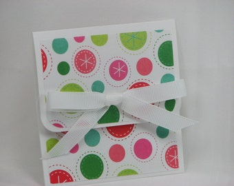 Perky Polka Dots Merry Christmas Gift Card Holder