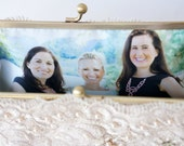 Personalize your Bridal Clutch Purse, Bridesmaid gifts with a Photo Lining - For Personalization only
