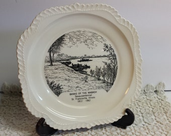 Banks of the Wabash Collector Plate Sesquincentennial Illinois