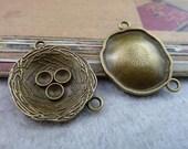 10pcs 23x29mm The Bird's nest  Antique Bronze Retro Pendant Charm For Jewelry Bracelet Necklace Charms Pendants C6520