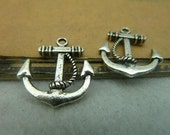 30pcs 20x22mm The Anchor Silver Whiter Retro Pendant Charm For necklace Jewelry /Pendants C3837