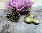 10pcs 14x14mm The Mickey Mouse Antique Bronze Retro Pendant Charm For Jewelry Bracelet Necklace Charms Pendants C1161