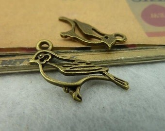 30pcs 17x24mm The Bird Antique Bronze Retro Pendant Charm For Jewelry Bracelet Necklace Charms Pendants C3856