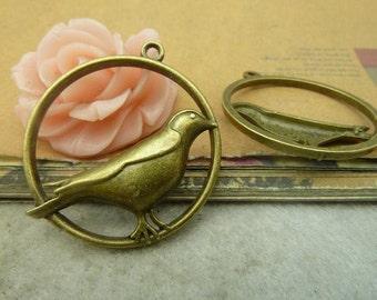 10pcs 33x36mm The Bird  Antique Bronze Retro Pendant Charm For Jewelry Bracelet Necklace Charms Pendants C4877