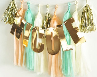 Gold Foil Name Banner - Up to 10 letters