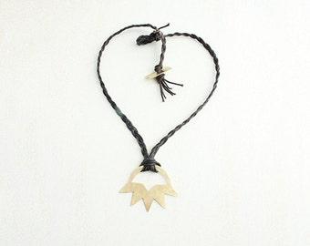 Tepidus. Brass Statement Collar Necklace.