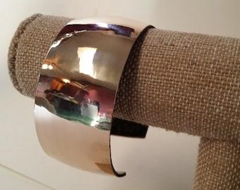 Wide Bronze Cuff Bracelet