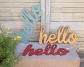 Hello, Metal Hello, word art, hello sign