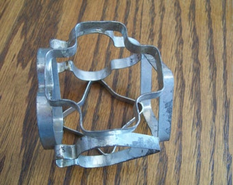 Vintage Cookie Wheel 6 sided Aluminum Cookie Cutter 6 Different Shapes for Cookie Baking All in One Handy Tool Aluminum Mid Century 1950s