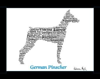 German Pinscher,German Pinscher Art,German Pinscher Artwork,German Pinscher Print,German Pinscher Lover,German Pinscher Gift