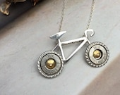 Bullet Necklace, Cycle Necklace, Sterling Silver, Kinetic, Miniature Cycle, Limited Edition