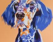 English Setter Colorful Dog Print