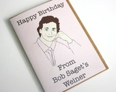 Funny Pop Culture Full House Happy Birthday from Bob Saget's weiner 90's birthday greeting card