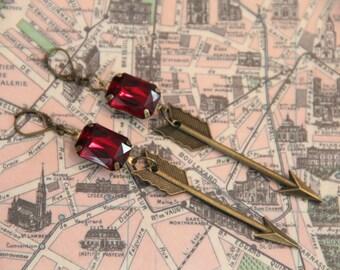 Blood Jewels Goddess of Protection History Geek Girl Earrings