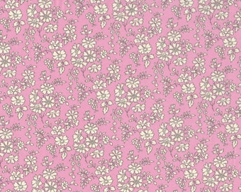 Fat eighth Capel R, bubblegum pink classic floral Liberty print, Liberty of London cotton tana lawn