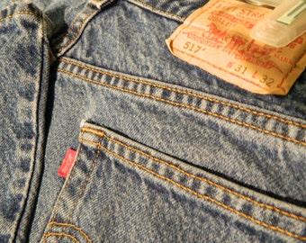 Vintage Levi Jeans 517 Boot Cut Vintage Jeans W31 L32 Vintage Clothing Faded Jeans