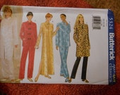 Butterick 5324 Petite Misses Oriental Style Dress Skirt and Pants Sizes 20-22-24
