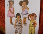 Butterick B4173 Toddlers Childrens Top Dress Shorts and pants Sizes 1-2-3