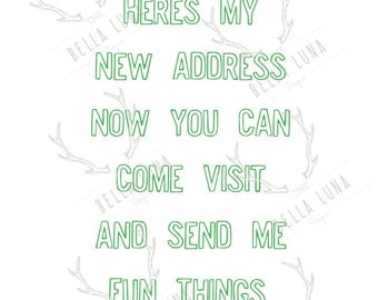Here's My New Address Postcards!