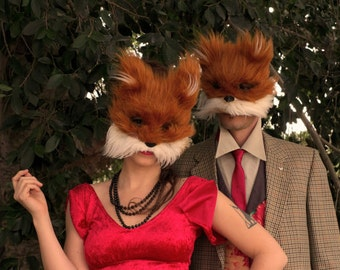 Fox mask art/ adults halloween mask/ adult halloween costume