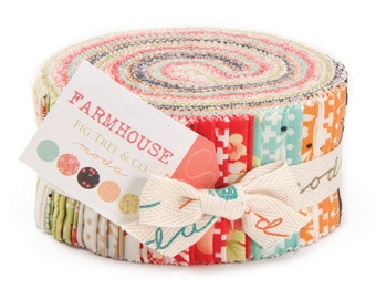 FARMHOUSE by FIG TREE Moda Jelly Roll fabric 40 2.5 inch strips 20250Jr beautiful floral