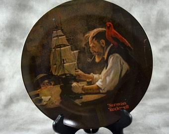 Norman Rockwell The Ship Builder Collector Plate
