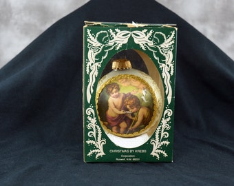 Christmas by Krebs Masters on Silk Ornament