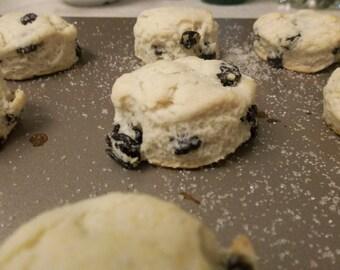 Homemade Scottish Currant Scones Organic  Gluten Free option