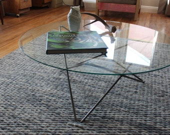 The Los Angeles - Eames Inspired Glass Top Coffee Table