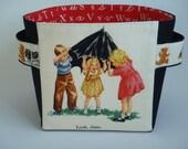 FUN With DICK & JANE  Fabric Basket