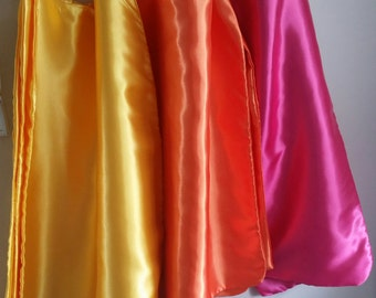 Kid's Generic Party Pack Superhero Capes in Satin with matching Mask in felt