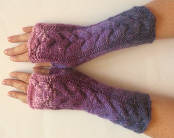 Fingerless Gloves Violet Purple wrist warmers