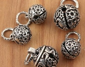925 sterling silver bell charms, low sound stars bell, antique silver bell. bell pendant, bracelet diy