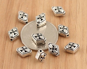 925 sterling beads, sterling silver cross,Chrome Hearts style,mala beads,rhombus beads,cross beads,hill tribe silver tube beads,