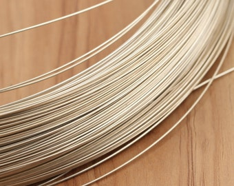 1 meter of 925 sterling silver wire, DIY silver wire, sterling wire,1mm silver wire, 0.8mm silver wire, 0.6mm silver wire, 0.4mm silver wire