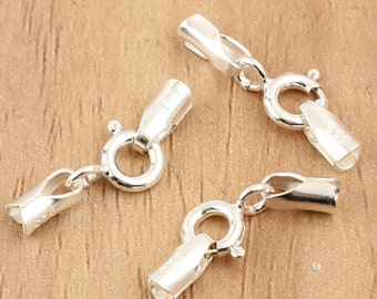 5pcs 925 sterling silver Clasp, sterling silver buckle, bright silver Clasp. 2mm Clasp