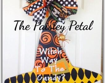 Witch Hat, Halloween Decoration, Halloween Door Hanger