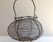 Wonky French wire basket to use for eggs, salad or fruit