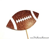 Football Photo Booth Prop - Glitter Football - Super Bowl Prop - Football Prop - Photobooth Props