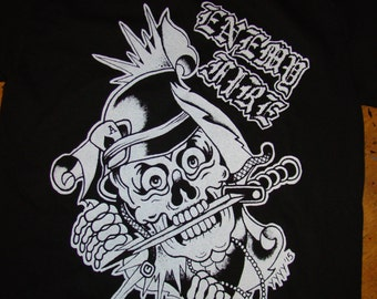 "enemy fire oi band ""skelleton soldier"" shirt"