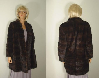 Luxurious Chocolate Brown Ranch Mink Coat