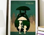 Hayao Miyazaki Anime Movie Poster Series - My Neighbor Totoro