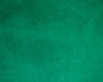 "SUEDE Leather 12""x12"" Emerald / Shamrock Green Garment Suede 4-4.5 oz / 1.6-1.8 mm PeggySueAlso™ E2825-07"