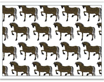 Blank Card with Envelope – Horses
