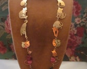 Wild Bryde CAT LOVER'S Necklace 14k gold plate Siamese Maine Coon Burmese & more