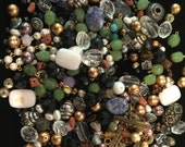 Vintage and new bag of loose beads