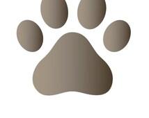 Dog Paw Stencil Craft and Wall Stencil