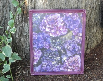 Shabby Chic Purple Frame,  8 x 10 Painted Frame for Weddings, Home, Shower, Events