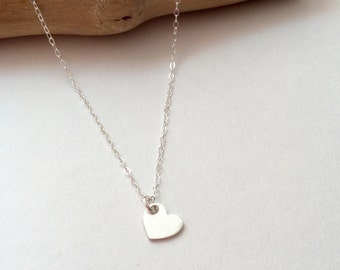 Heart Necklace, Little Heart, Tiny Token Jewelry, Minimal Jewelry, Heart, Heart Jewelry