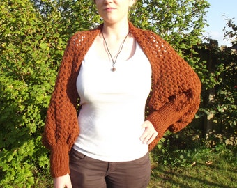 Knitted lacy shrug, hand knitted shrug,knitted shrug,lace shrug,fall knitwear,winter knitwear,gift,knitted lace